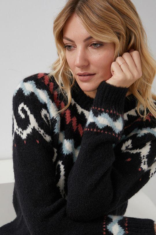 czarny Answear Lab - Sweter z domieszką wełny