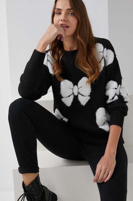 czarny Answear Lab - Sweter z domieszką wełny Damski