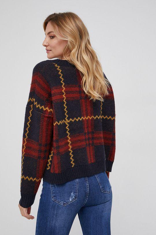 czerwony Answear Lab - Sweter z domieszką wełny