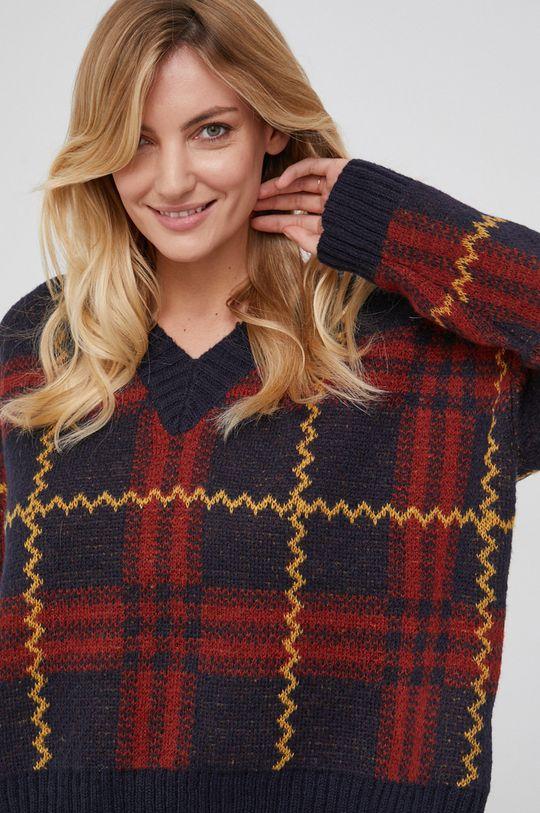 czerwony Answear Lab - Sweter z domieszką wełny Damski