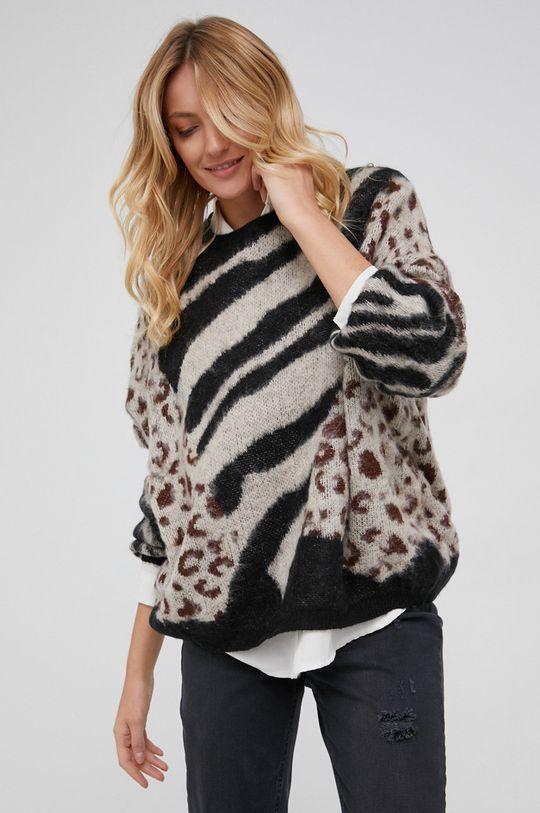 beżowy Answear Lab - Sweter z domieszką wełny