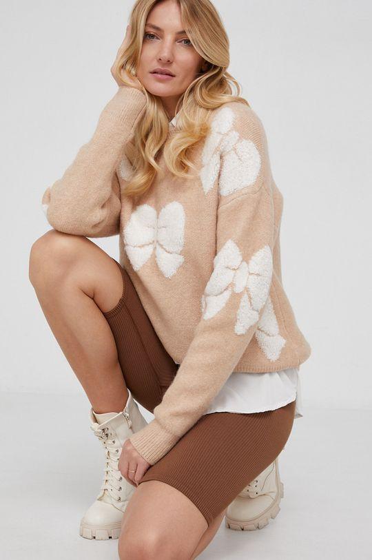 beżowy Answear Lab - Sweter wełniany Damski