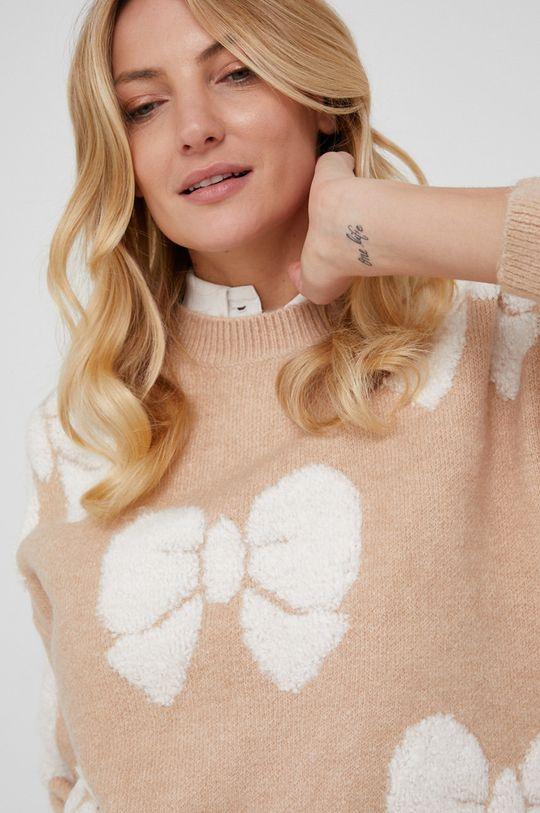 beżowy Answear Lab - Sweter wełniany