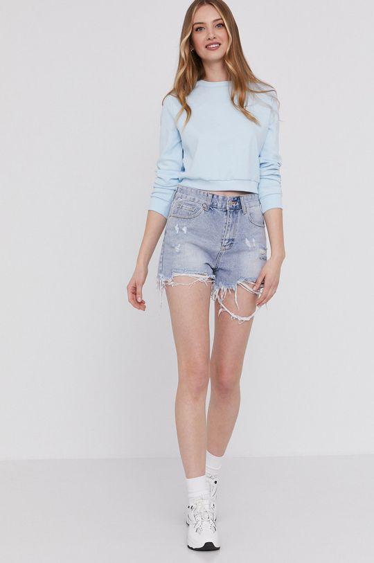 Answear Lab - Szorty jeansowe jasny niebieski