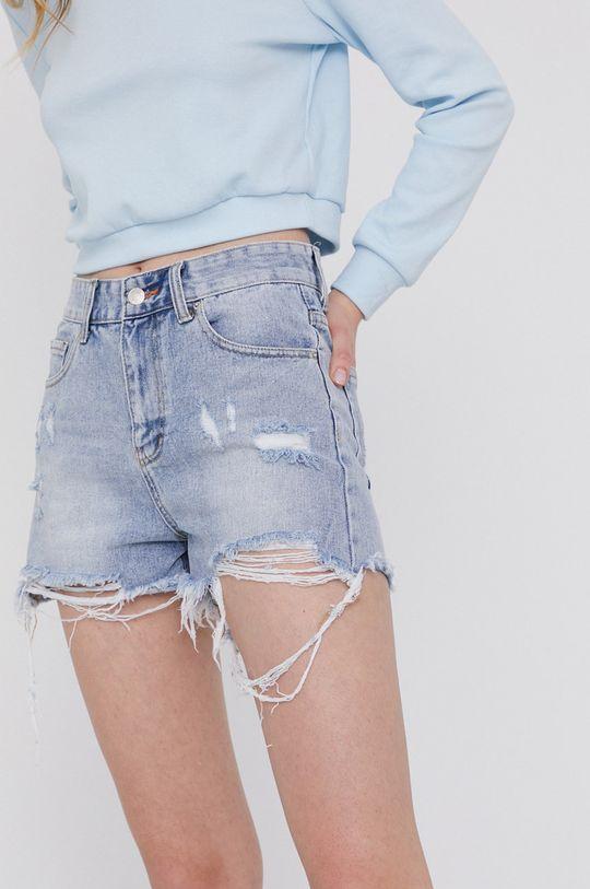 jasny niebieski Answear Lab - Szorty jeansowe