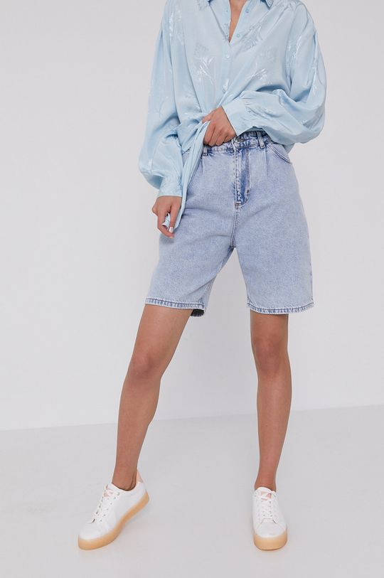 jasny niebieski Answear Lab - Szorty jeansowe Damski
