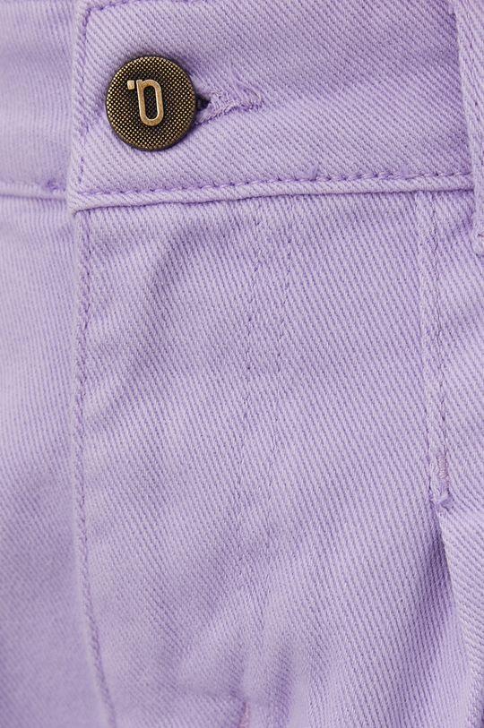 lawendowy Answear Lab - Szorty jeansowe