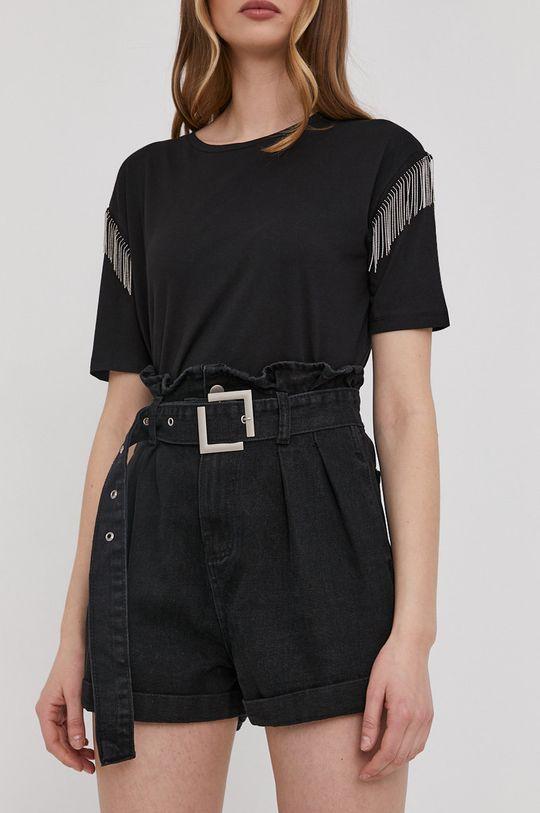 czarny Answear Lab - Szorty jeansowe Damski