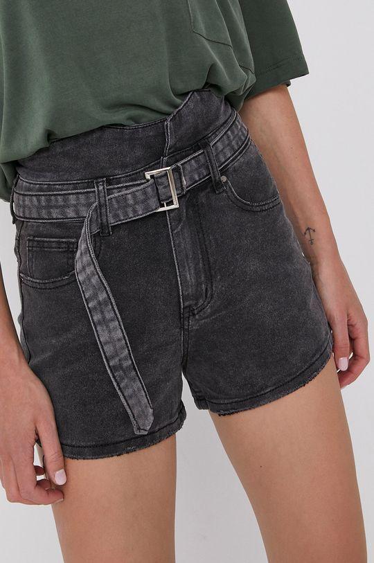 szary Answear Lab - Szorty jeansowe Damski
