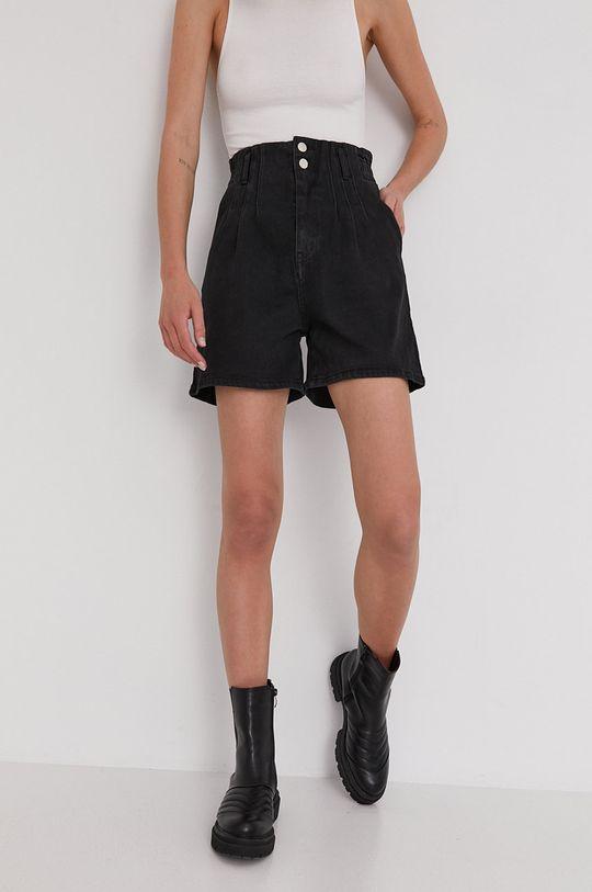 Answear Lab - Szorty jeansowe czarny