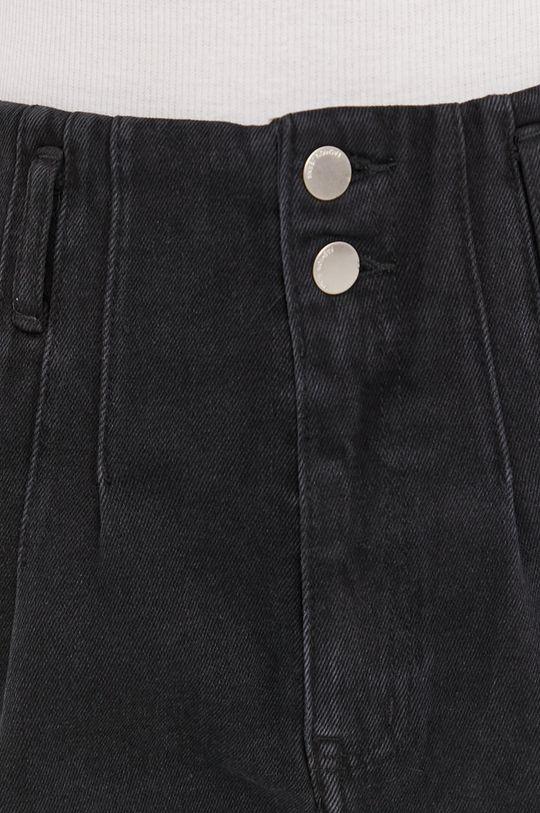 czarny Answear Lab - Szorty jeansowe