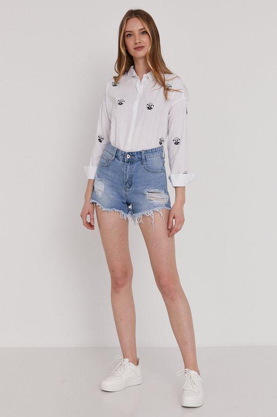 Answear Lab - Pantaloni scurti jeans albastru