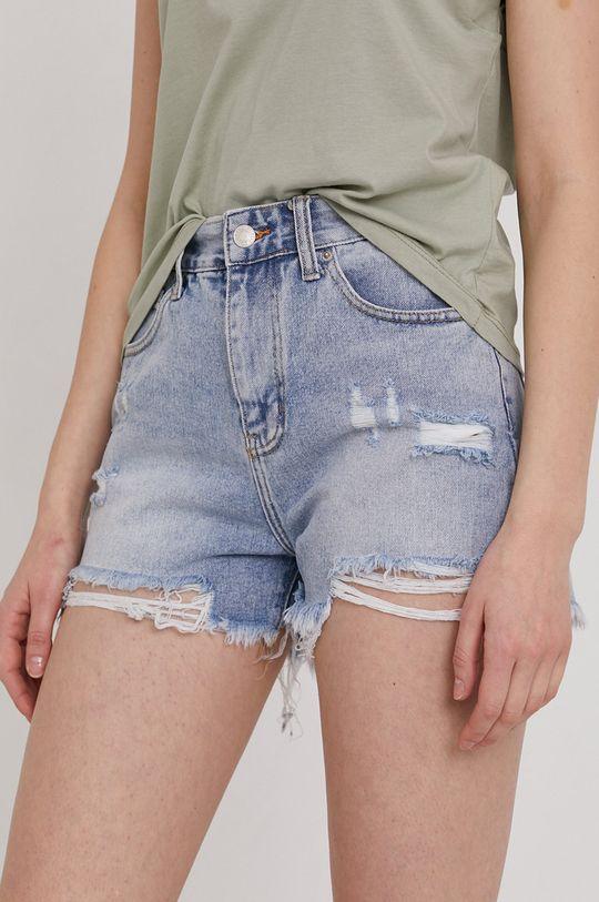 albastru Answear Lab - Pantaloni scurti jeans De femei