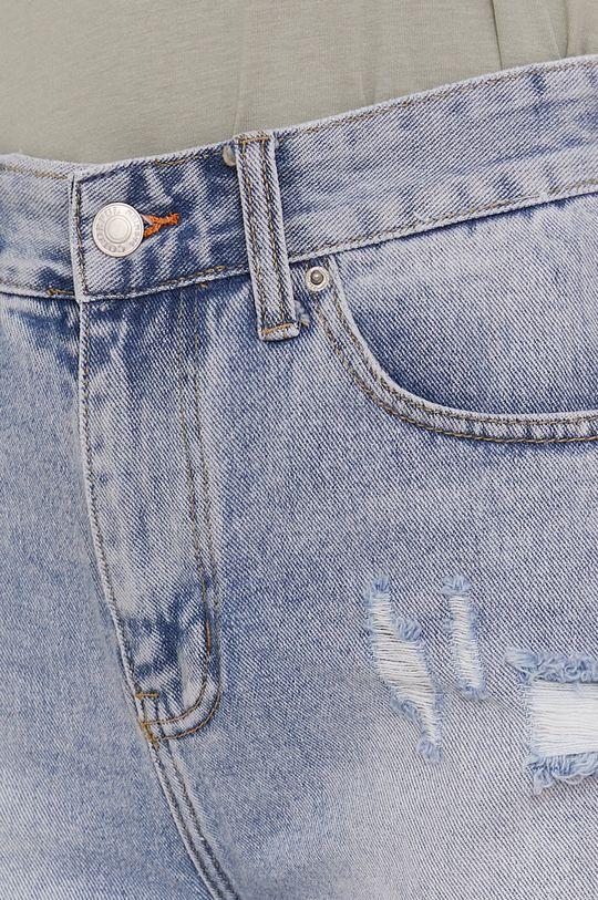 albastru Answear Lab - Pantaloni scurti jeans