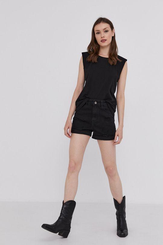 černá Answear Lab - Džínové šortky Dámský