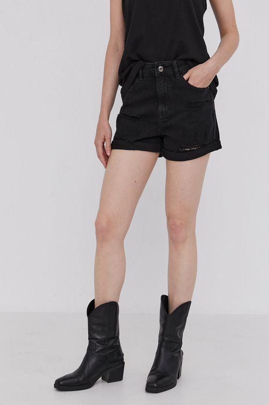Answear Lab - Džínové šortky černá