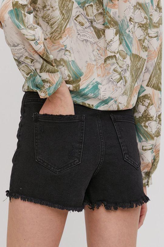 Answear Lab - Rifľové krátke nohavice  98% Bavlna, 2% Elastan