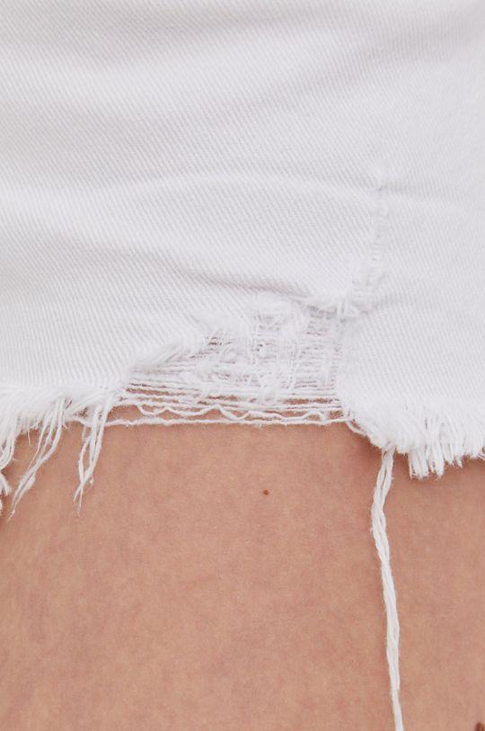 biela Answear Lab - Rifľové krátke nohavice