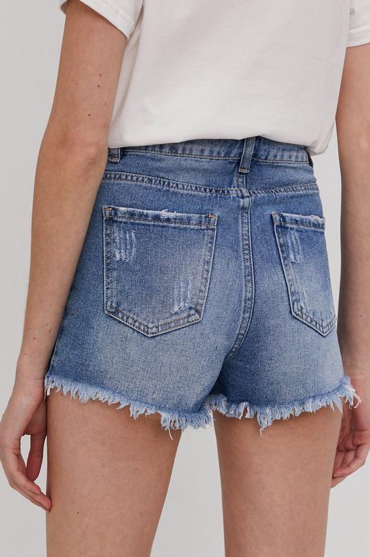 Answear Lab - Rifľové krátke nohavice  100% Bavlna