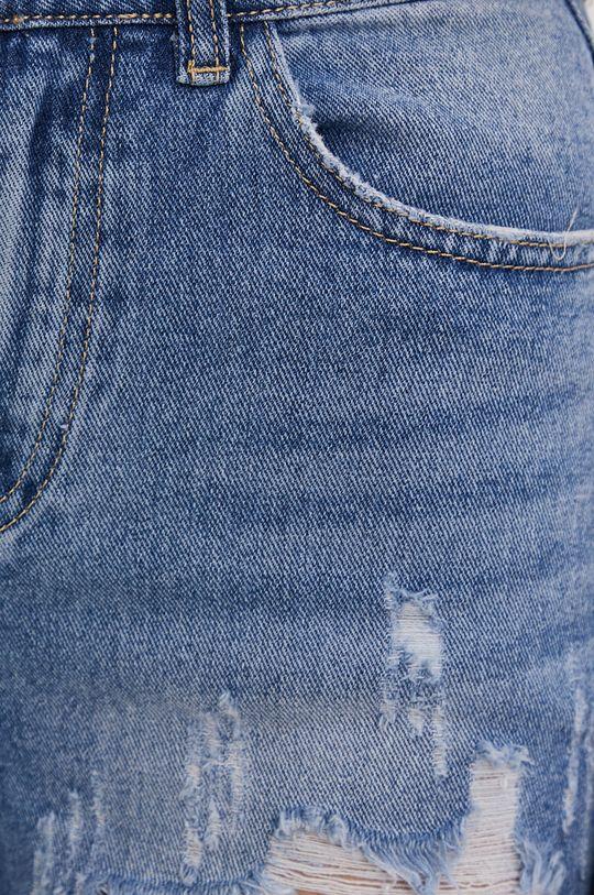 tmavomodrá Answear Lab - Rifľové krátke nohavice