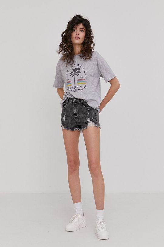 Answear Lab - Szorty jeansowe szary
