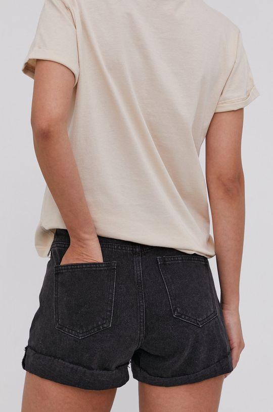 Answear Lab - Džínové šortky  95% Bavlna, 5% Elastan