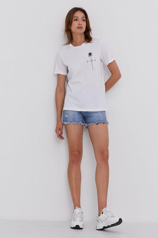 Answear Lab - Rifľové krátke nohavice modrá