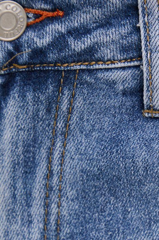 modrá Answear Lab - Rifľové krátke nohavice