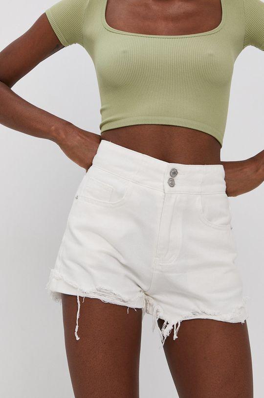 bílá Answear Lab - Džínové šortky Dámský