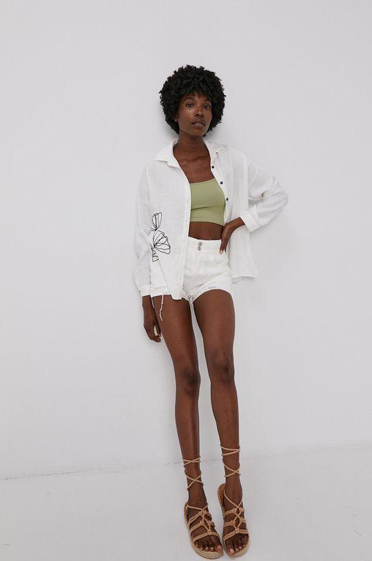 Answear Lab - Džínové šortky bílá