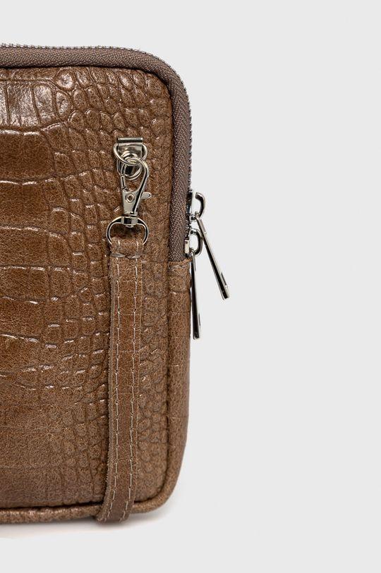 zlatohnědá Answear Lab - Kožená taška