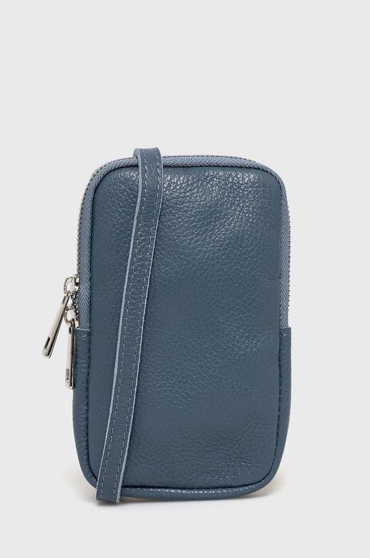 modrá Answear Lab - Kožená taška Dámský