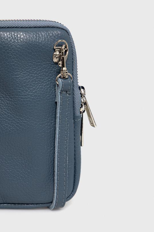 modrá Answear Lab - Kožená taška
