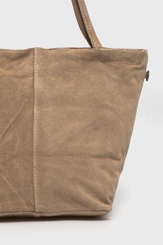 béžová Answear Lab - Semišová kabelka
