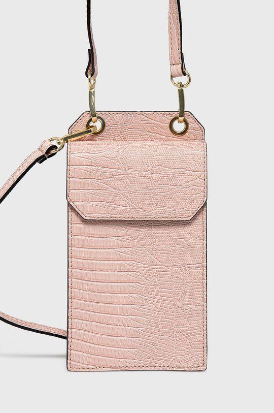 růžová Answear Lab - Kožená kabelka Dámský