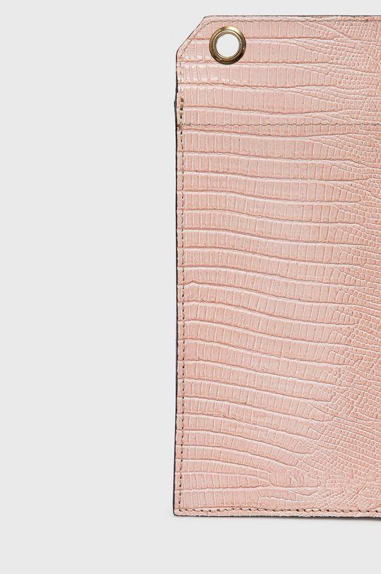 růžová Answear Lab - Kožená kabelka