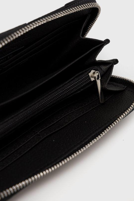 čierna Answear Lab - Kožená peňaženka