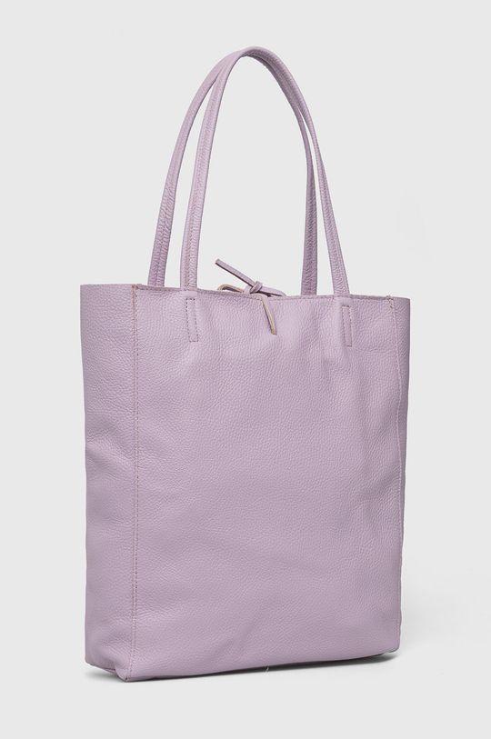 Answear Lab - Kožená kabelka levanduľová