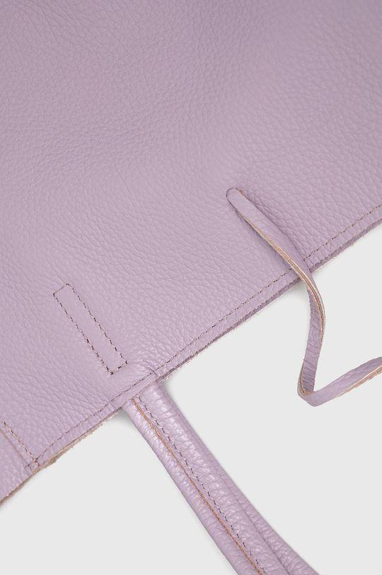levanduľová Answear Lab - Kožená kabelka