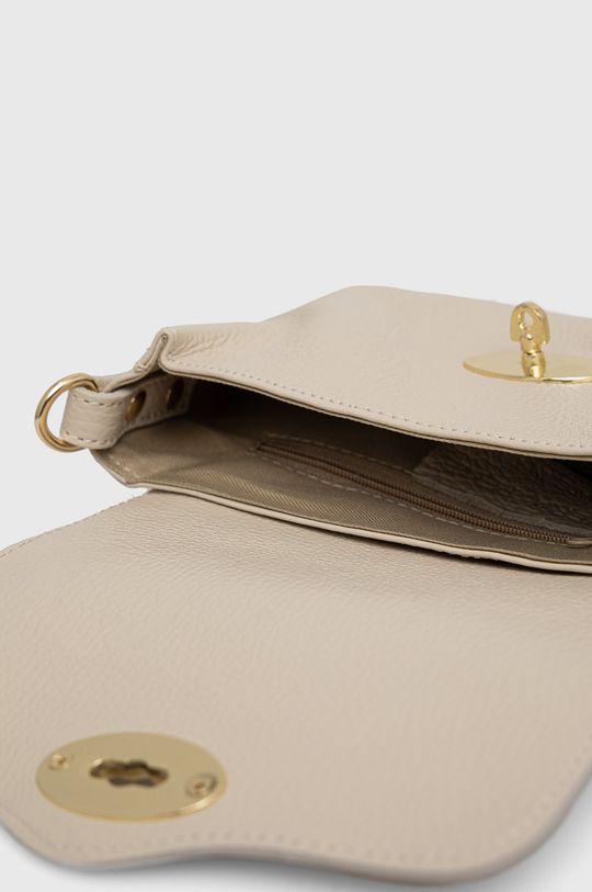 béžová Answear Lab - Kožená kabelka