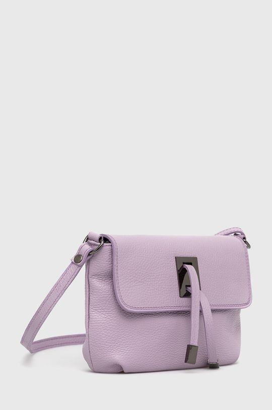 Answear Lab - Kožená kabelka levandulová