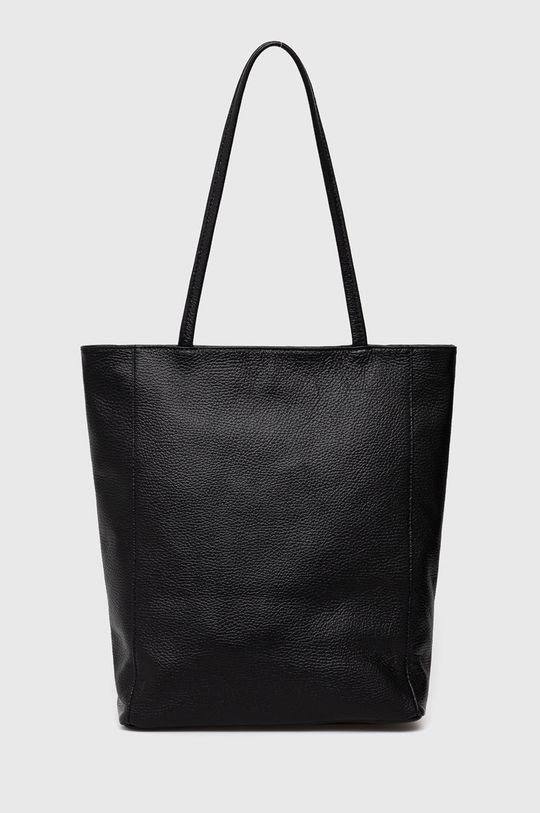 černá Answear Lab - Kožená kabelka Dámský