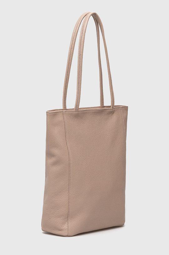 Answear Lab - Kožená kabelka růžová
