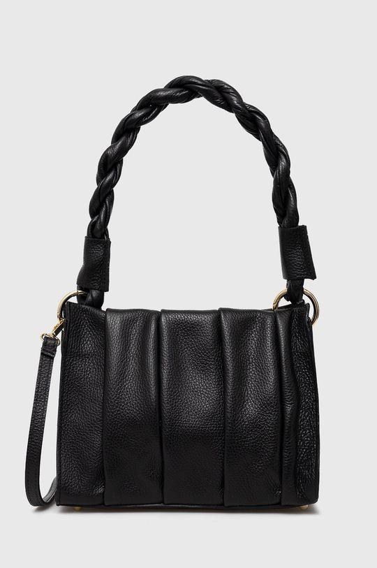 černá Answear Lab - Kožená taška Dámský
