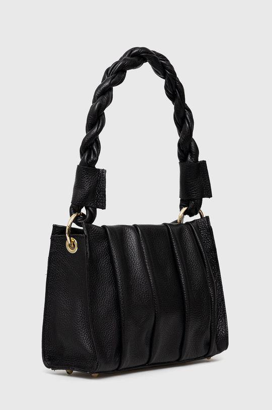 Answear Lab - Kožená taška černá