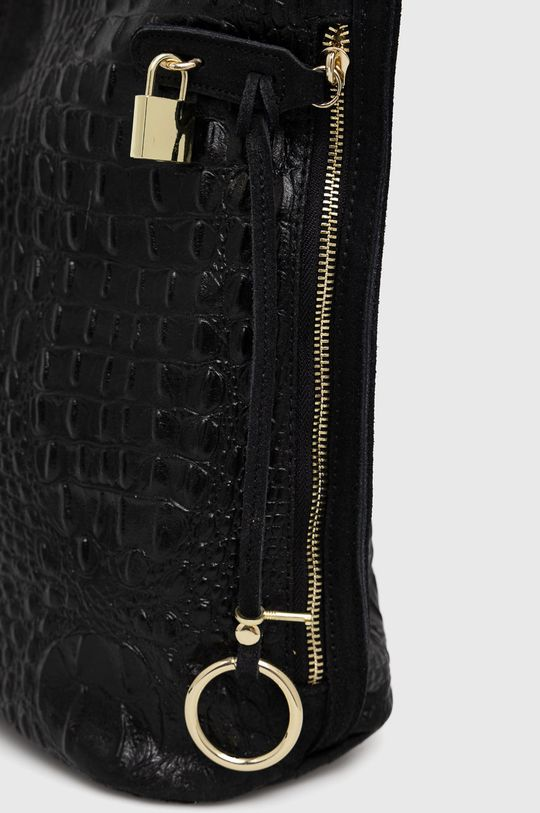černá Answear Lab - Kožená taška