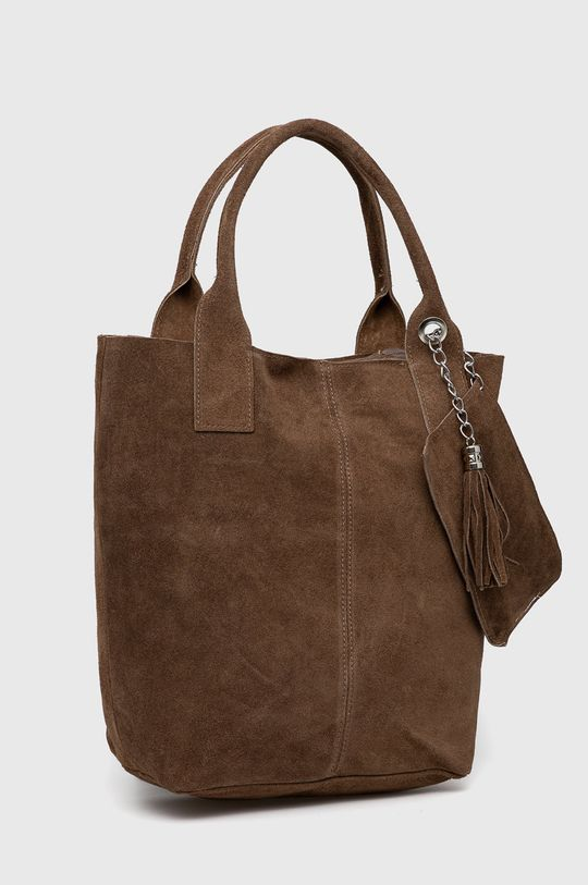 Answear Lab - Semišová kabelka hnedá