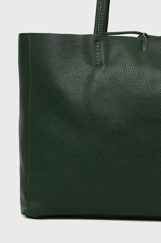zielony Answear Lab - Torebka skórzana