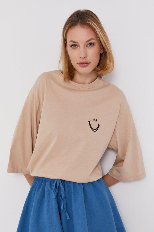 beżowy Answear Lab - T-shirt Damski