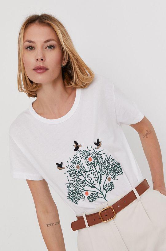 biały Answear Lab - T-shirt Damski